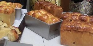 ハニーサワーレーズン★ラングドシャ 作り(犬仲間でパン作り)