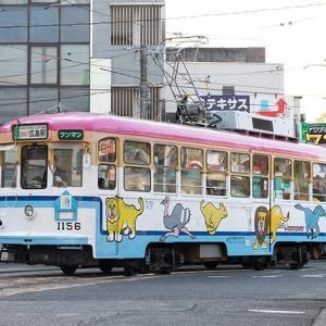 朝ラッシュの猿猴橋町で遭遇です♪ 広島電鉄1150形 #3