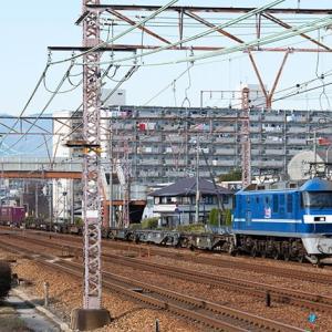 呪縛からの開放は白帯くんの牽く平べったい列車でした(苦笑) EF210-108 #3