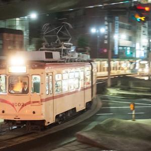 闇夜に映えます(笑) 広島電鉄3000形 #14