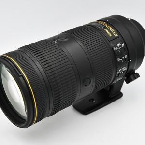 中古のAF-S NIKKOR 70-200mm F2.8E FL ED VRを購入。