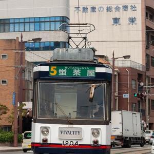 屋根上のクーラーキセは少々厳つ目です(笑) 長崎電軌1200形・1200A形 #3