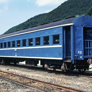 元国鉄オハ35形との事。 同和鉱業片上鉄道ホハフ3000形