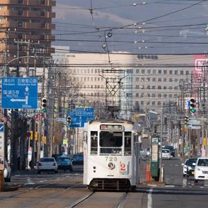 白い電車  函館市電710形 #6