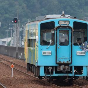 一瞬、「瀬戸」?と思った「七夕列車」ヘッドマーク(苦笑)水島臨海鉄道MRT300形 #7