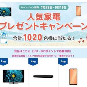 【大量当選】合計1,020人に当たる!シャープ人気家電プレゼントキャンペーン