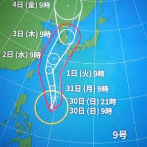 此の台風大きい甞めたらた駄目出来るだけ用心しましょう