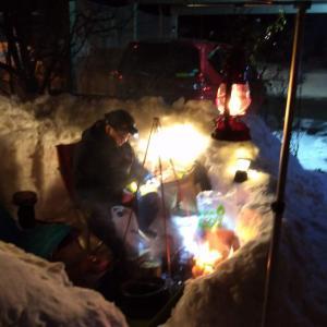 切磋琢磨の雪のガーデンパーティ