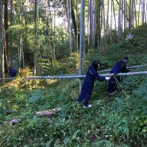 竹取りと土壁修復