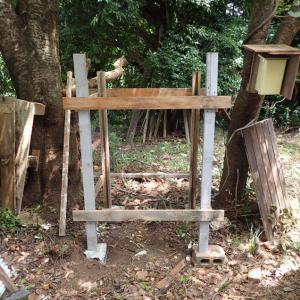 竹小屋修復