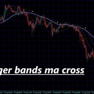 あまり見かけないボリンジャーバンドのバンドと移動平均線がクロスしたらサインを出すインジケーター bollinger bands ma cross