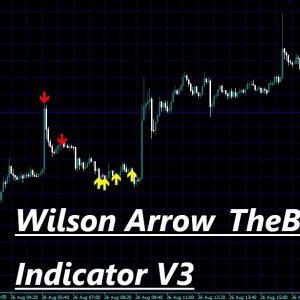 天底をとらえるとまでは言えないがWPR+RSI+CCIの組み合わせで反転しそうなポイントでサインを出してくれるインジケーター Wilson Arrow_TheBeast Indicator V3
