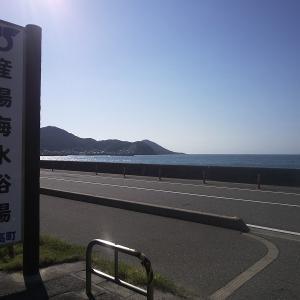 今週も産湯海岸周辺をサイクリング。海水浴は寒くてパス。