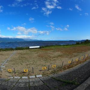 琵琶湖をちょっとだけ走ってきました。