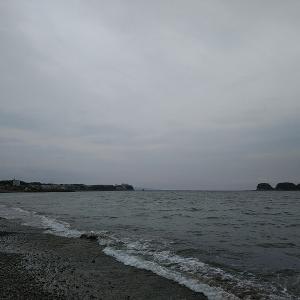 和歌山の南部海岸でキスの投げ釣り
