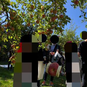 りんご狩りとハロウィン準備