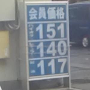 ガソリンの値上げ