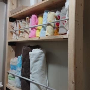 洗面にタオル棚をDIY
