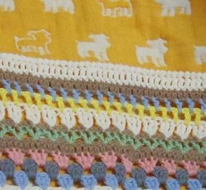 スパイシーブランケットの縁編み