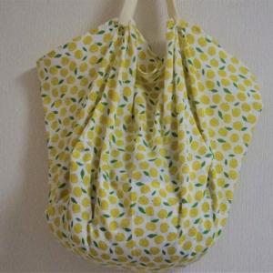 手ぬぐい2本でバッグを作りました