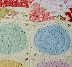 ブランケットの縁編み