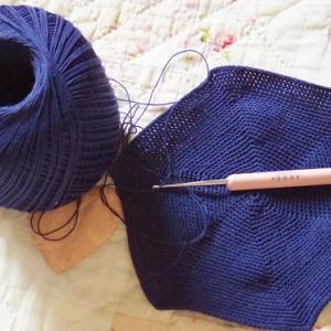 レース糸40番の細編み