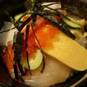 500円海鮮丼セット 「廻転寿司 にぎり乃金次郎」