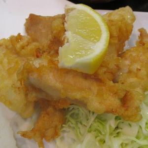 500円鶏天定食 「串かつ うおてる 都島店」