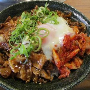 600円 豚焼肉丼 一日中食べられる定食  「スタミナ焼肉 はらだ」