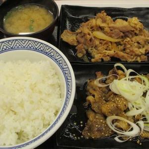 牛皿・牛カルビ定食「吉野家」
