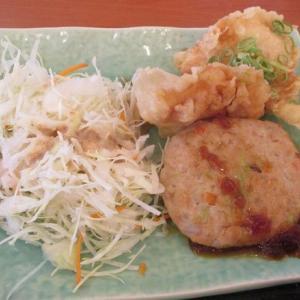 500円鮭と野菜のつくねと鶏天ねぎポン酢「和食さと 嵯峨店」