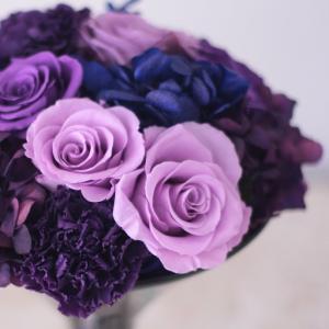 紫色のバラを使ったアレンジメントⅡ♪