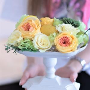 花とフルーツのコンポートアレンジ♪