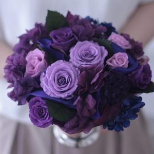紫色のバラでアレンジメント♪
