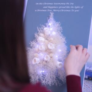 「ホワイトクリスマスツリー」レッスン風景♪