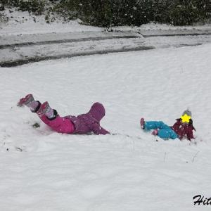 初雪、ストレス、初すべり!