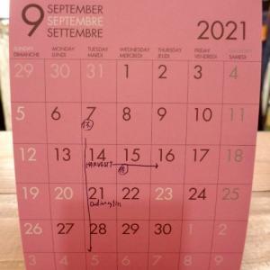 9月の営業スケジュールですよ。
