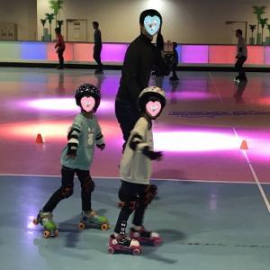 東京ドームシティでローラースケート