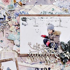Asuka Studio Winter Wonderlandのペーパーを使ってレイアウト!