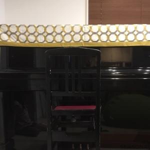 イギリスC&Cの生地でピアノカバーをお作りしました
