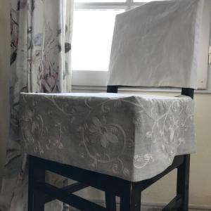 背もたれタイプのピアノ椅子カバーをお作りしました~