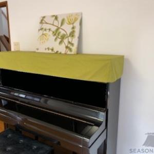 綿麻キャンバスのピアノトップカバーをお作りしました~横浜市