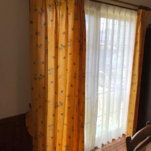 フランス製プロヴァンススタイルカーテンのお取り付け