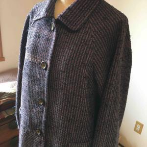 裂織りのコート