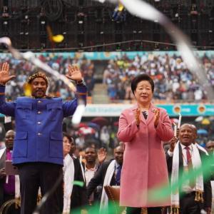 南アフリカ大会「2019アフリカ大陸サミットヒョジョン家庭祝福祭り」大盛況