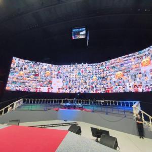 まもなく開かれる新統一世界安着オンライン100万希望前進大会! リハーサルシーン
