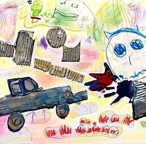 4歳の孫の絵