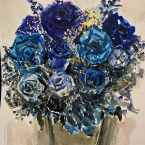 母の日の青い薔薇