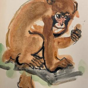 サルの絵の練習