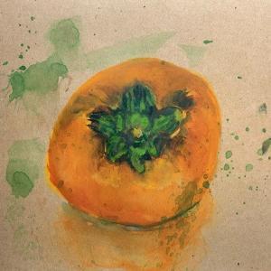 柿の実の練習